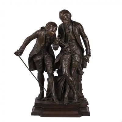 Une Sculpture En Bronze Massive