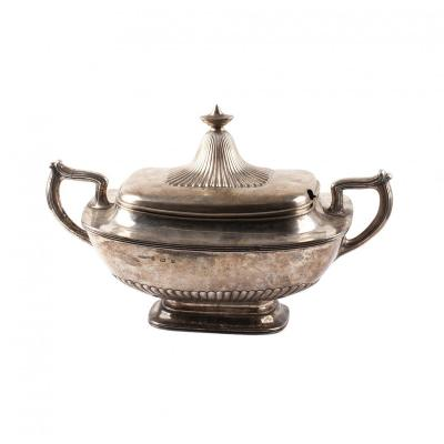 Gorham Silver Vegetable Dish With Lid