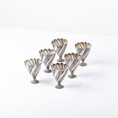 Silver Turkish Zarf 6pcs