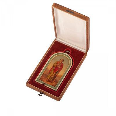 Russian Silver-gilt Icon Of St. Panteleimon