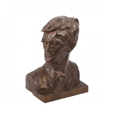 Bronze Bust Of Russian Composer Dmitri Shostakovich