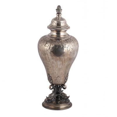 A Massive Silver Italian Goblet