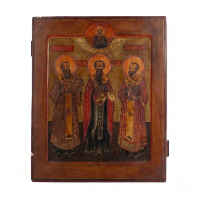 A Russian Icon Of Three Holy Hierarchs