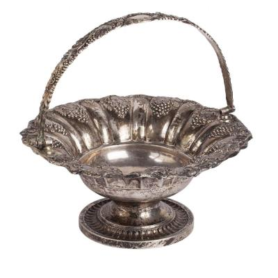 Massive Swedish Silver Fruit Bowl