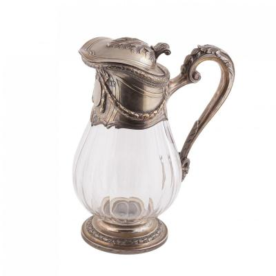 A Silver Mounted Claret Jug By Emile Puiforcat