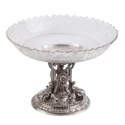 An Important  Silver And Crystal  Cup By Gustave Odiot