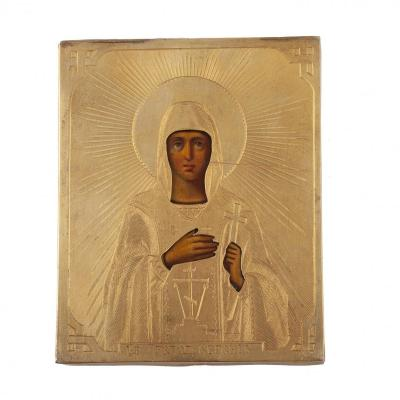 Russian Icon Of Saint Eugenie
