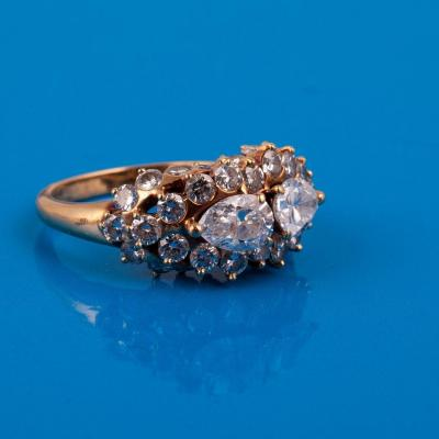 A Gold Ring Paved With Natural Diamonds
