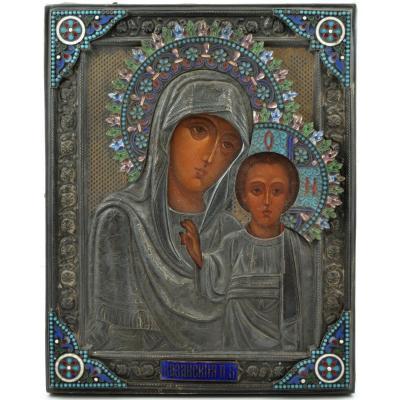 Icône Russe De La Vierge De Kazan