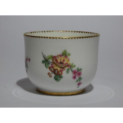 Small Bowl Sevres Decor Bouquet Of Flowers