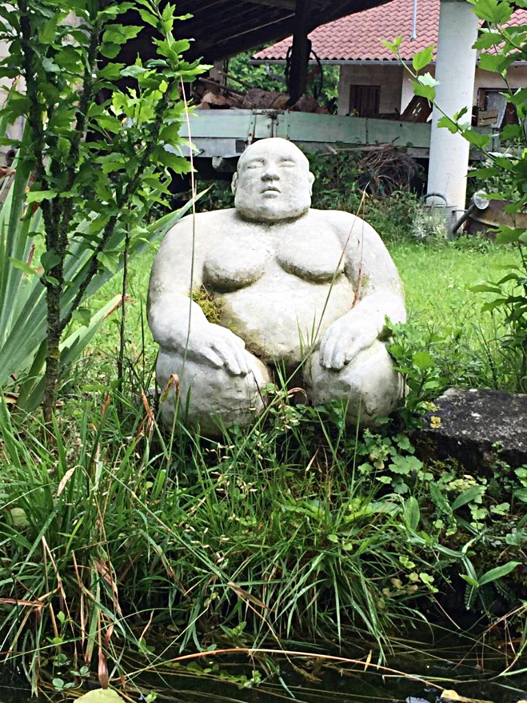 Reconstructed Stone Sumo Sculpture