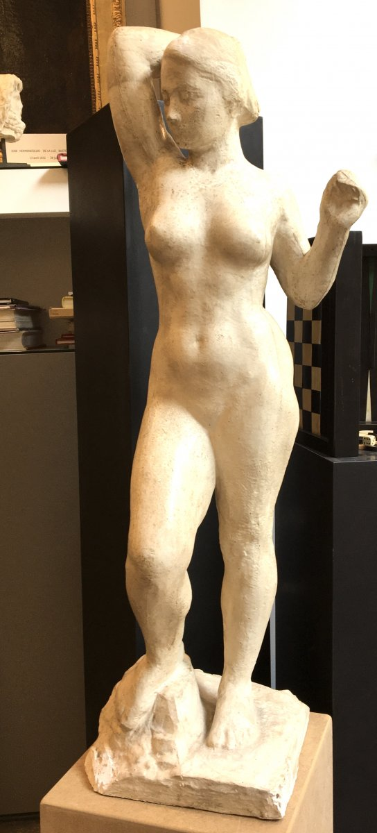 Naked Woman Sculpture By Marcel Damboise