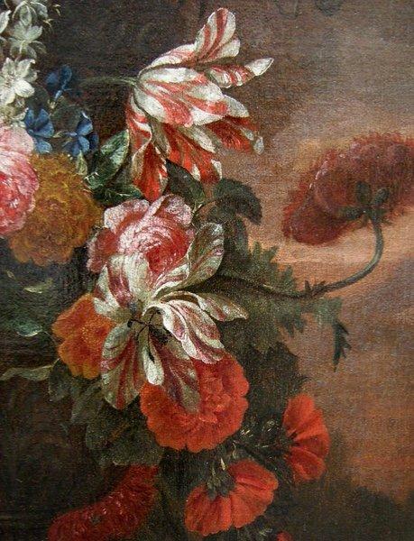 Flowers in a stone urn par Jean-Baptist  Monnoyer (1634 - 1699) - Atelier-photo-3