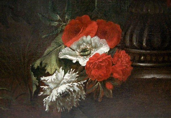 Flowers in a stone urn par Jean-Baptist  Monnoyer (1634 - 1699) - Atelier-photo-1