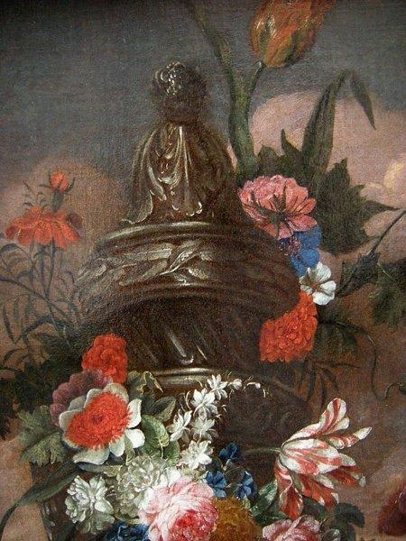 Flowers in a stone urn par Jean-Baptist  Monnoyer (1634 - 1699) - Atelier-photo-2