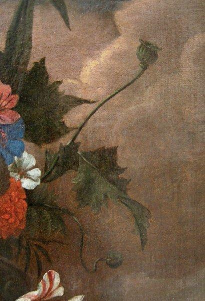 Flowers in a stone urn par Jean-Baptist  Monnoyer (1634 - 1699) - Atelier-photo-4