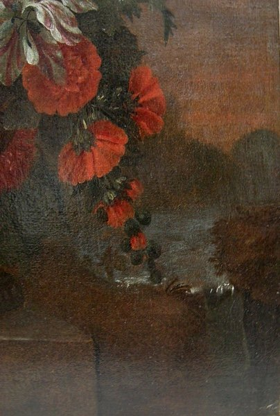 Flowers in a stone urn par Jean-Baptist  Monnoyer (1634 - 1699) - Atelier-photo-5