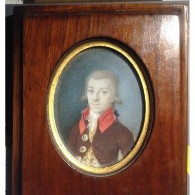 Portrait Miniature On Ivory, , Late 18th Century