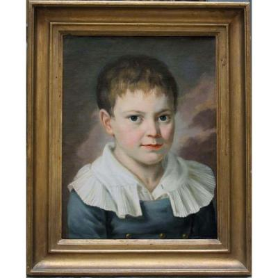 Portrait Of Franz Roch, 6 Years Old , By Georg Ridler (listed Painter In Vienna In 1815-1820)