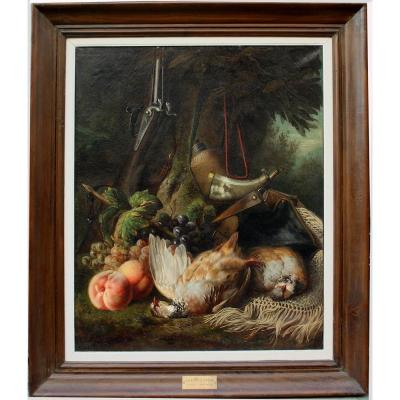 Hunting Still Life II By Joseph Henri Condamin (french 1847- Lyon - 1917)