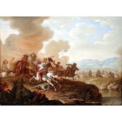 Louis Nicolas Van Blarenberghe (1716 - 1797) Scène de Bataille Médiévale