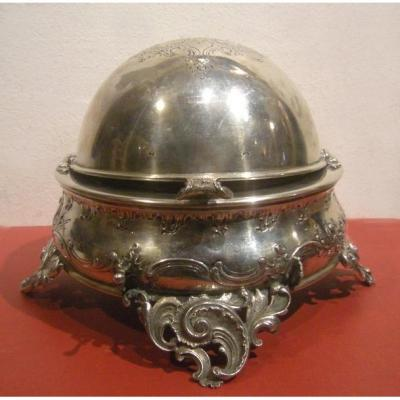 Récipient à Caviar, Argent, Poinçon Diana Head 1872-1922, Manufacture Viennoise Brother Frank
