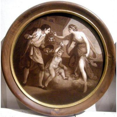 Angelica Kauffmann (1741-1807), attribut. Une Paire de peintures allégoriques