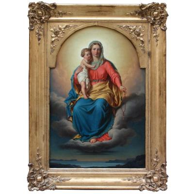 Vierge à l'Enfant par Franz Schams (autrichien, 1823-1883)