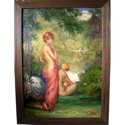 Belle Baigneuse par Bohumil Marecek (tchèque, Né En 1884)
