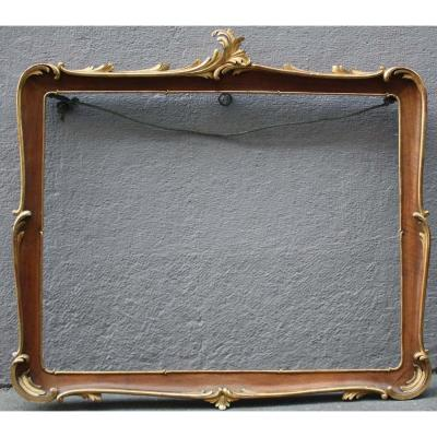 Rococo Style Table Or Mirrors Frame, Nineteenth Century, Hand Carved Wood, Original Gilding