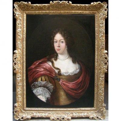 """Portrait de Theresa Kunegunda, électrice de Bavière et princesse de Pologne"""", début du XVIIIe"""
