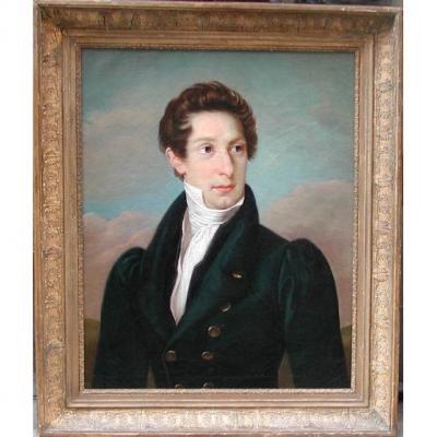 Portrait d'Un Gentilhomme Viennois par  Johann Peter Krafft (1780 - 1856) - Attribué