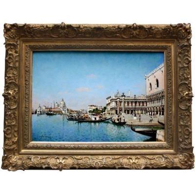 Venice, View Of St. Mark's Square By  Joszef Herczeg (hungarian, Born 1958