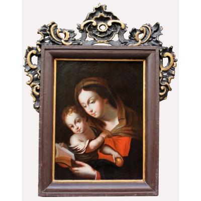 Caravaggist From The Beginning Of The 18th Century. Title: Madonna With Child
