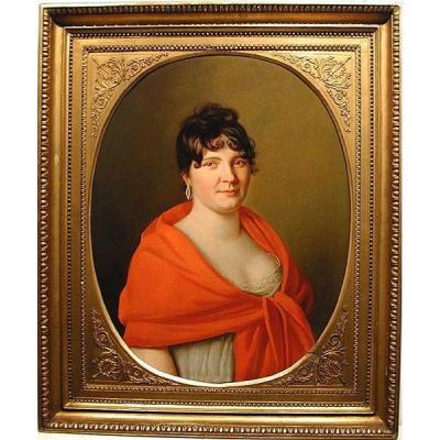 Portrait de une femme par Henri François Riesner (1767-1828), Attribué