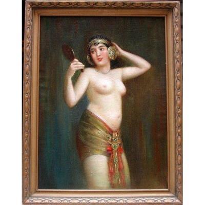 Oriental Nude By Josef Bino (czech 1881 - 1947)