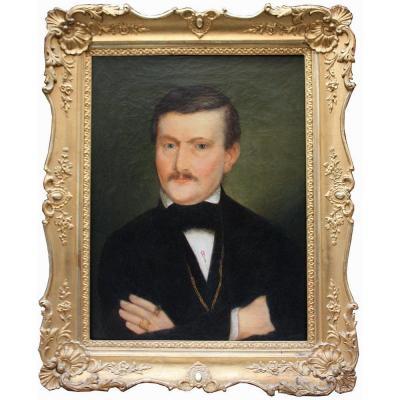 Portrait d'Un Gentilhomme, Première Moitié Du XIXe Siècle