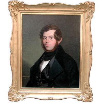 Portrait Of A Young  Nobleman By Anton Haala (austrian, Circa 1830)
