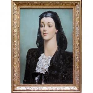 Femme Fatale par Serge Ivanoff (russe, 1893 Moscou - 1983 Paris)