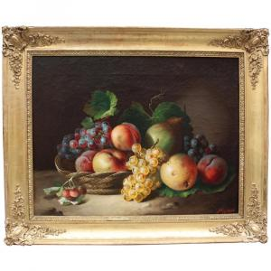 Francesco Malacrea (Trieste 1812-1886) Nature morte  aux fruits