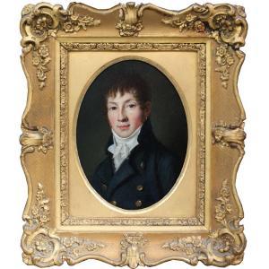 Portrait d'un jeune gentilhomme par Louis Léopold Boilly (1761- 1845), attribué