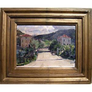 Neno Mori (1899 - Venice - 1968) Village Landscape