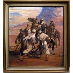 Scène en Orient par Josef Solar (Tchèque, né en 1896)