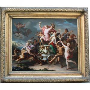 Procession triomphale de Bacchus et Ariane par Carl (Karl) Josef Geiger (autrichien 1822-1905)