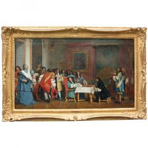 « Repas royal », artiste français, 19e. siècle
