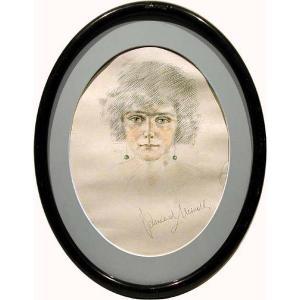 Portrait Art-Déco d'une beauté par Konrad Meindl (1883 - 1970 ), l'ami de PICASSO