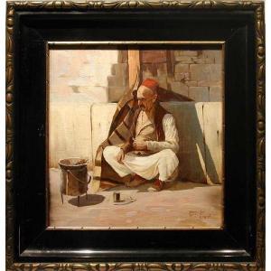 Krim Tatar  dans la rue à Gurzuf / Crimée par Frantisek Horejc (né en 1885)