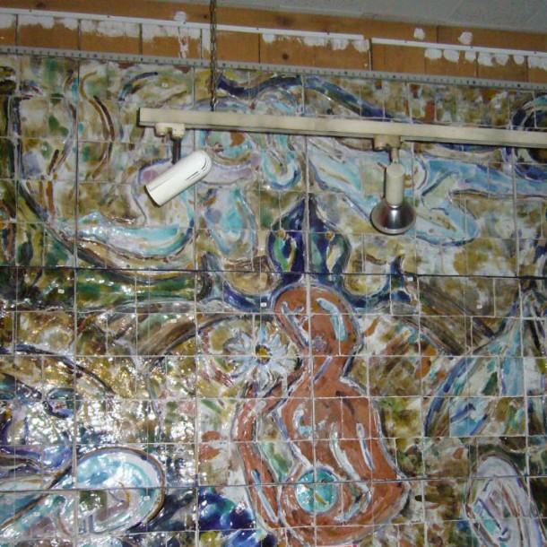 tapis mural c ramiques diverses. Black Bedroom Furniture Sets. Home Design Ideas