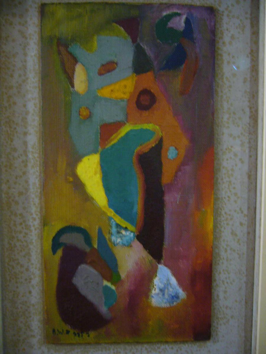 Oil On Chipboard, Bruno Von Wurster