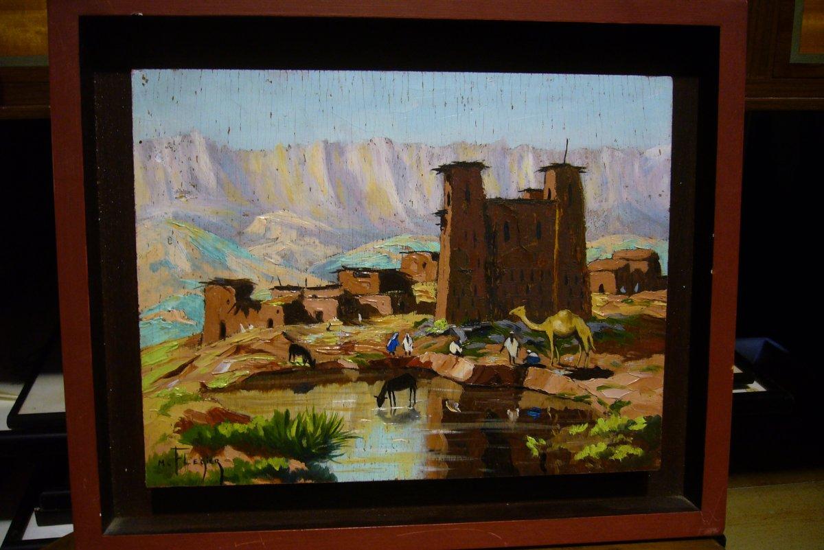 Paysage Orientaliste Au Maroc